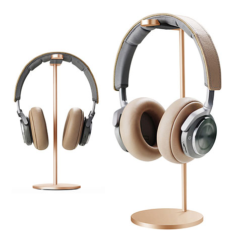 Support Casque Ecouteur Cintre Universel H01 Or