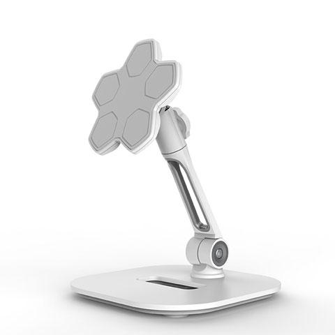Support de Bureau Support Tablette Flexible Universel Pliable Rotatif 360 H03 pour Apple New iPad 9.7 (2018) Blanc