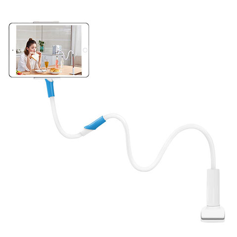 Support de Bureau Support Tablette Flexible Universel Pliable Rotatif 360 T35 pour Huawei MatePad 10.4 Blanc