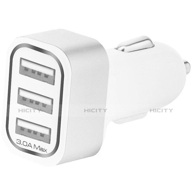 3.0A Adaptateur de Voiture Chargeur Rapide 3 USB Port Universel U07 Argent Plus