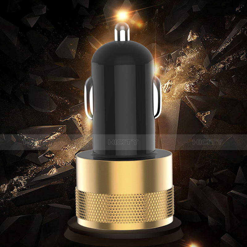 3.1A Adaptateur de Voiture Chargeur Rapide Double USB Port Universel U06 Noir Plus