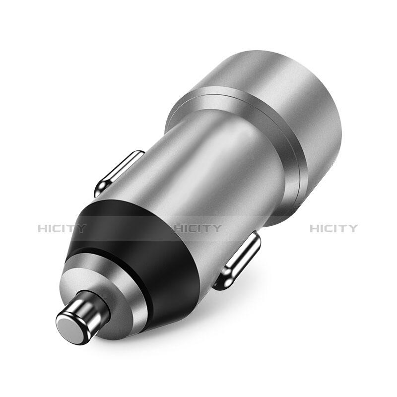 3.4A Adaptateur de Voiture Chargeur Rapide Double USB Port Universel U02 Argent Plus