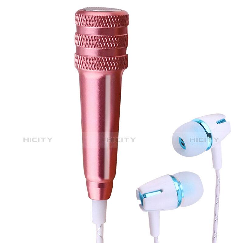 3.5mm Mini Microphone de Poche Elegant Karaoke Haut-Parleur avec Support M08 Or Rose Plus