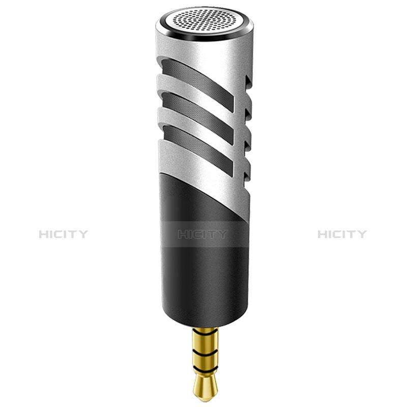 3.5mm Mini Microphone de Poche Elegant Karaoke Haut-Parleur M09 Argent Plus