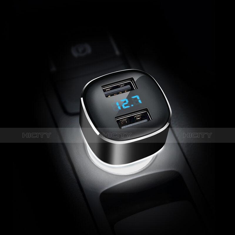 4.8A Adaptateur de Voiture Chargeur Rapide Double USB Port Universel Noir Plus