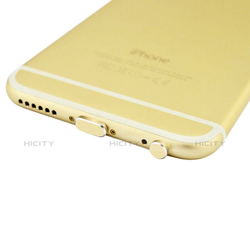 Bouchon Anti-poussiere Lightning USB Jack J01 pour Apple iPhone 11 Or Plus