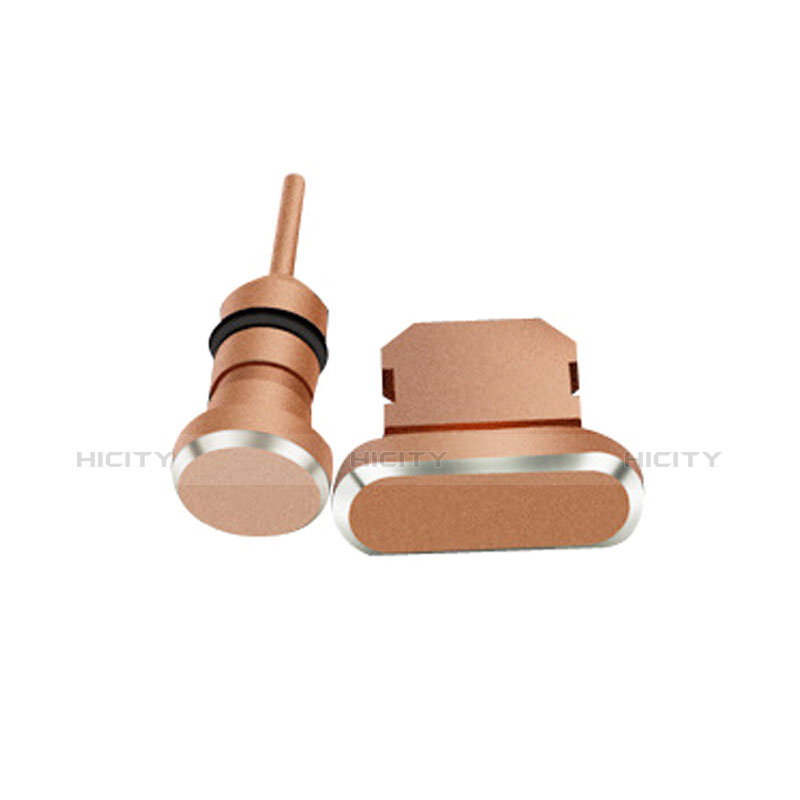 Bouchon Anti-poussiere Lightning USB Jack J01 pour Apple iPhone 11 Or Rose Plus