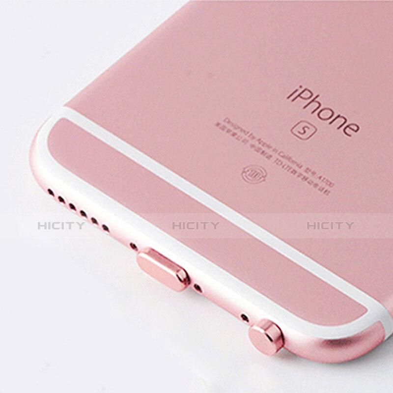 Bouchon Anti-poussiere Lightning USB Jack J02 pour Apple iPhone 11 Pro Max Or Rose Plus