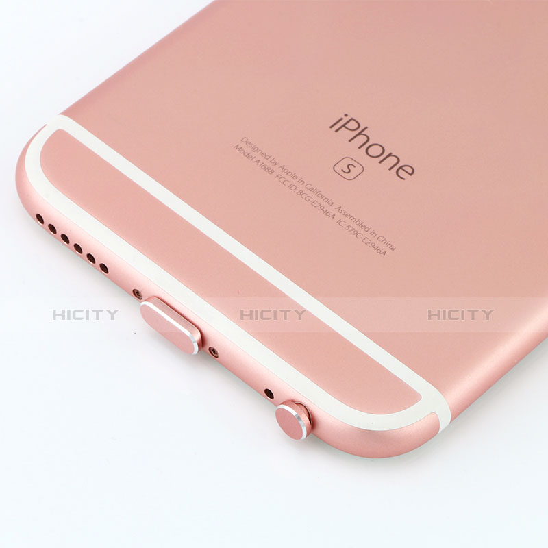 Bouchon Anti-poussiere Lightning USB Jack J04 pour Apple iPhone 11 Or Rose Plus