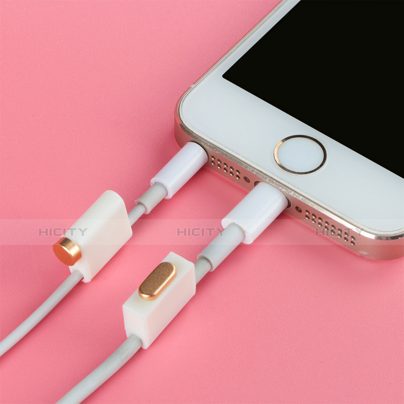 Bouchon Anti-poussiere Lightning USB Jack J05 pour Apple iPhone 11 Pro Argent Plus