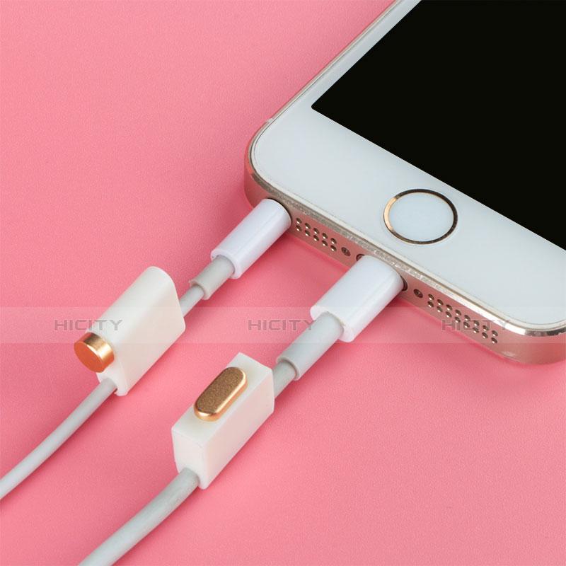 Bouchon Anti-poussiere Lightning USB Jack J05 pour Apple iPhone 11 Pro Max Argent Plus