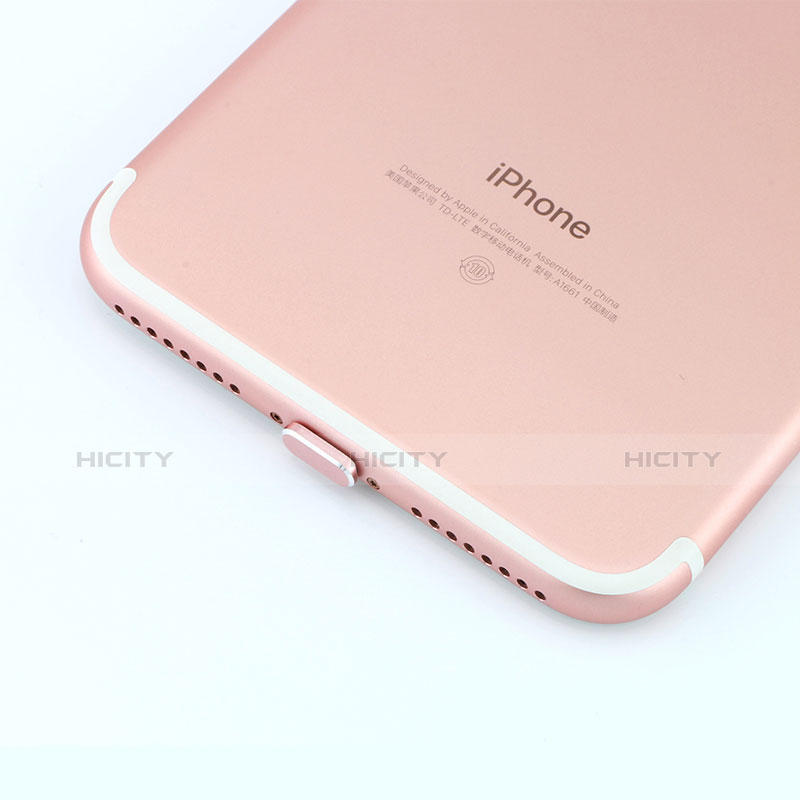 Bouchon Anti-poussiere Lightning USB Jack J06 pour Apple iPhone 11 Pro Argent Plus