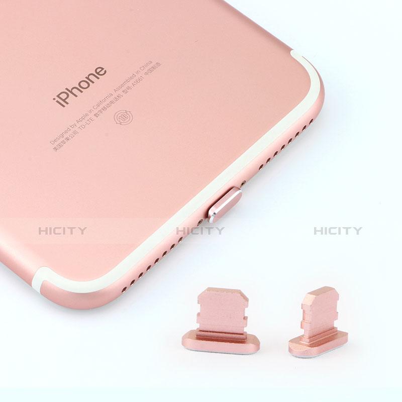 Bouchon Anti-poussiere Lightning USB Jack J06 pour Apple iPhone 11 Pro Or Rose Plus