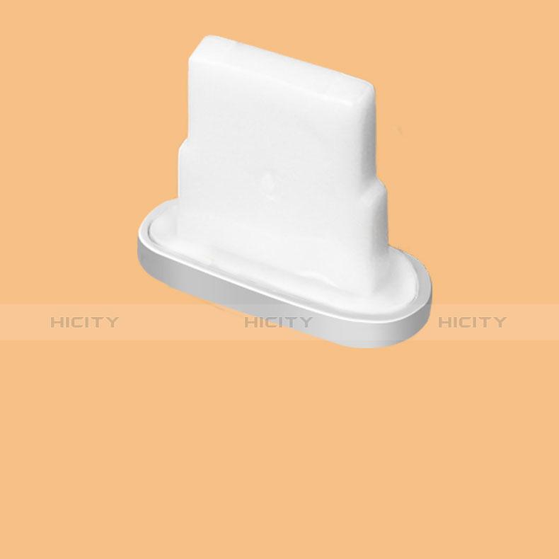 Bouchon Anti-poussiere Lightning USB Jack J07 pour Apple iPhone 11 Argent Plus