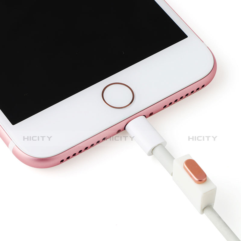 Bouchon Anti-poussiere Lightning USB Jack J07 pour Apple iPhone 11 Pro Argent Plus