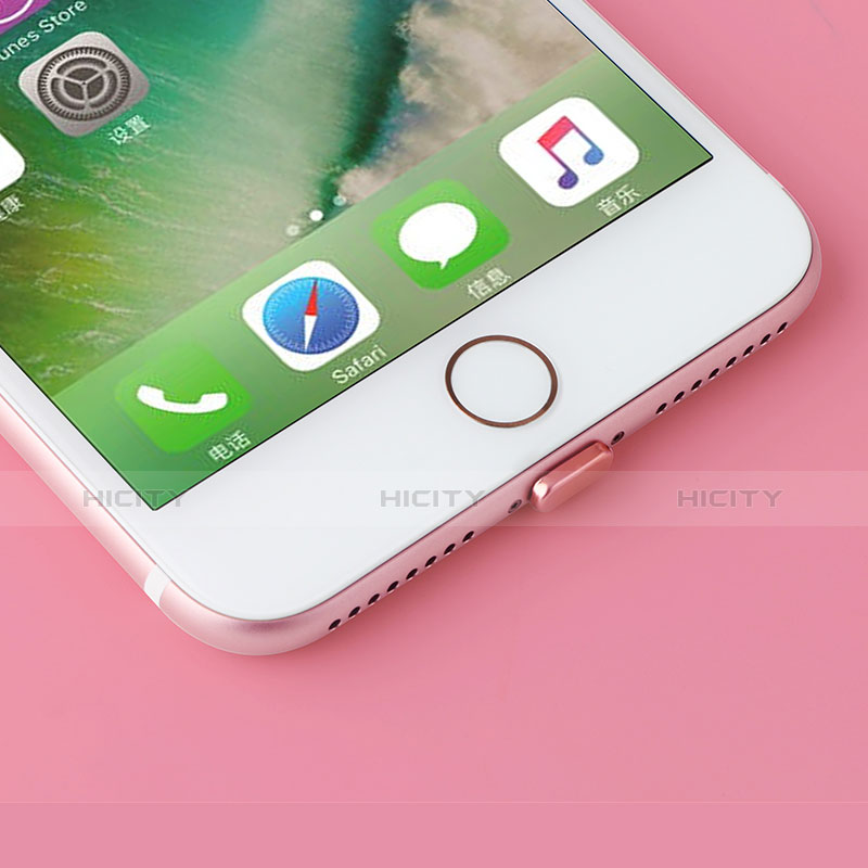 Bouchon Anti-poussiere Lightning USB Jack J07 pour Apple iPhone 11 Pro Max Or Rose Plus