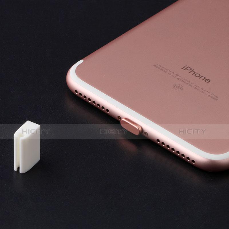 Bouchon Anti-poussiere Lightning USB Jack J07 pour Apple iPhone 11 Pro Max Rouge Plus