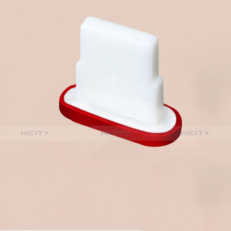 Bouchon Anti-poussiere Lightning USB Jack J07 pour Apple iPhone 11 Pro Rouge Plus