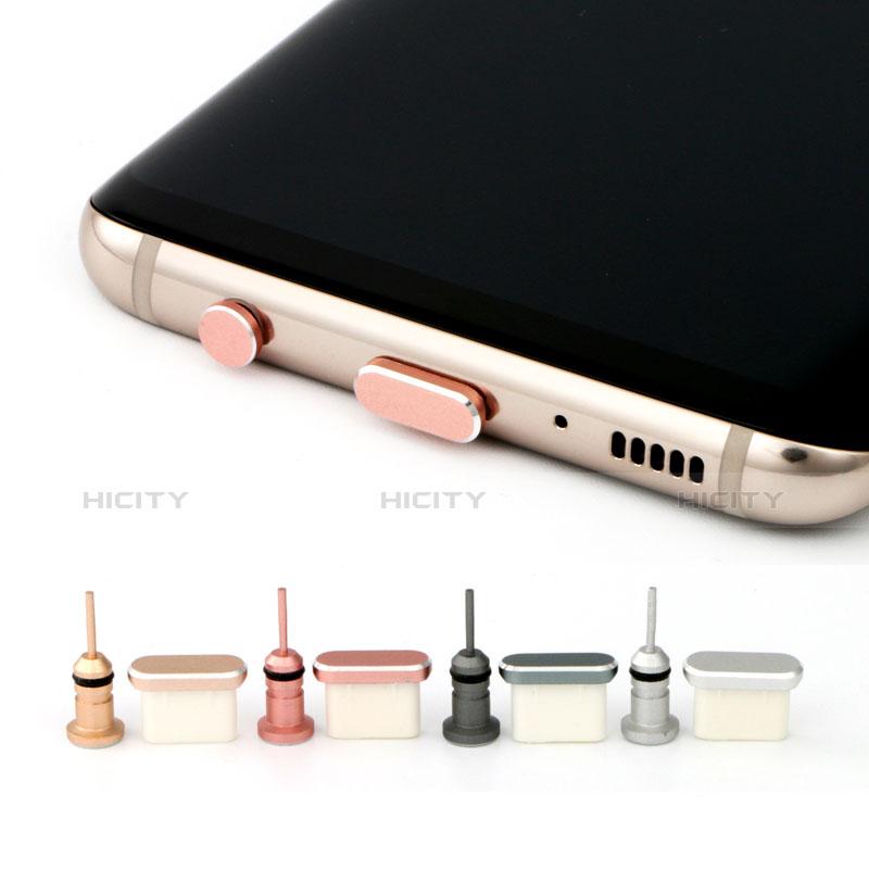 Bouchon Anti-poussiere USB Jack Android Type-C Universel Argent Plus