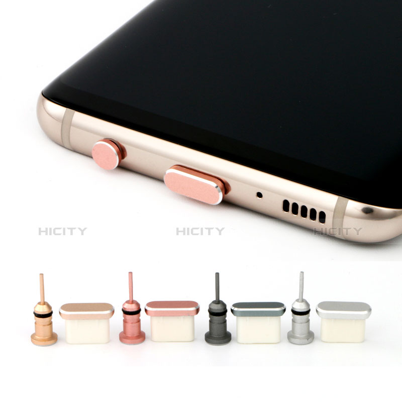 Bouchon Anti-poussiere USB Jack Android Type-C Universel Or Rose Plus
