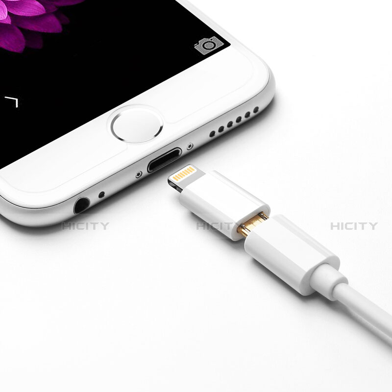 Cable Android Micro USB vers Lightning USB H01 pour Apple iPhone 11 Blanc Plus