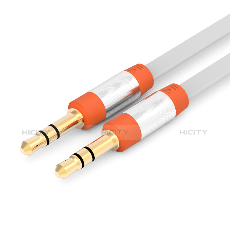 Cable Auxiliaire Audio Stereo Jack 3.5mm Male vers Male A12 Orange Plus