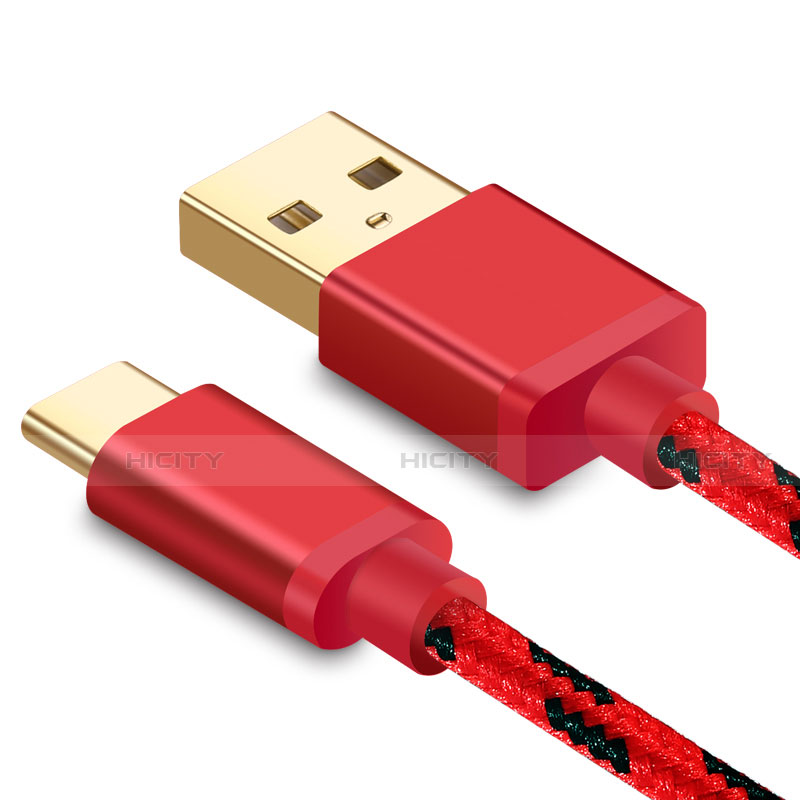 Cable Type-C Android Universel T09 Rouge Plus
