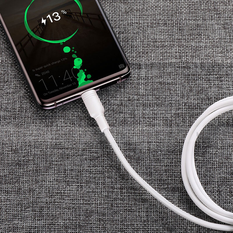 Cable Type-C Android Universel T15 Blanc Plus