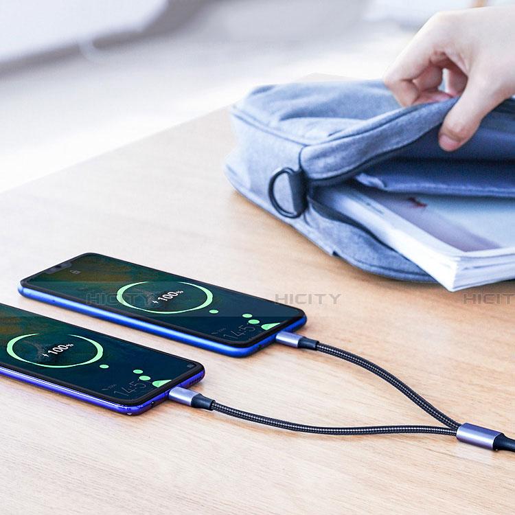 Cable Type-C et Mrico USB Android Universel T02 Noir Plus