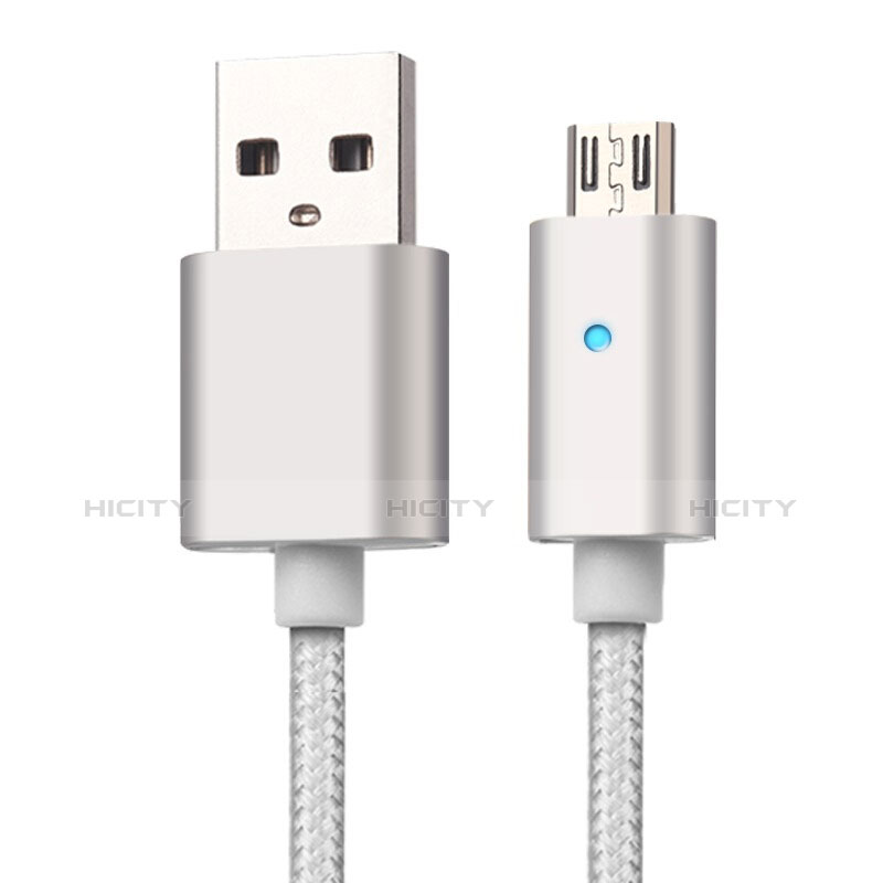 Cable USB 2.0 Android Universel A08 Argent Plus