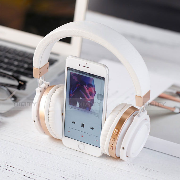 Casque Sport Bluetooth Stereo Ecouteur Intra-auriculaire Sans fil Oreillette H71 Blanc Plus