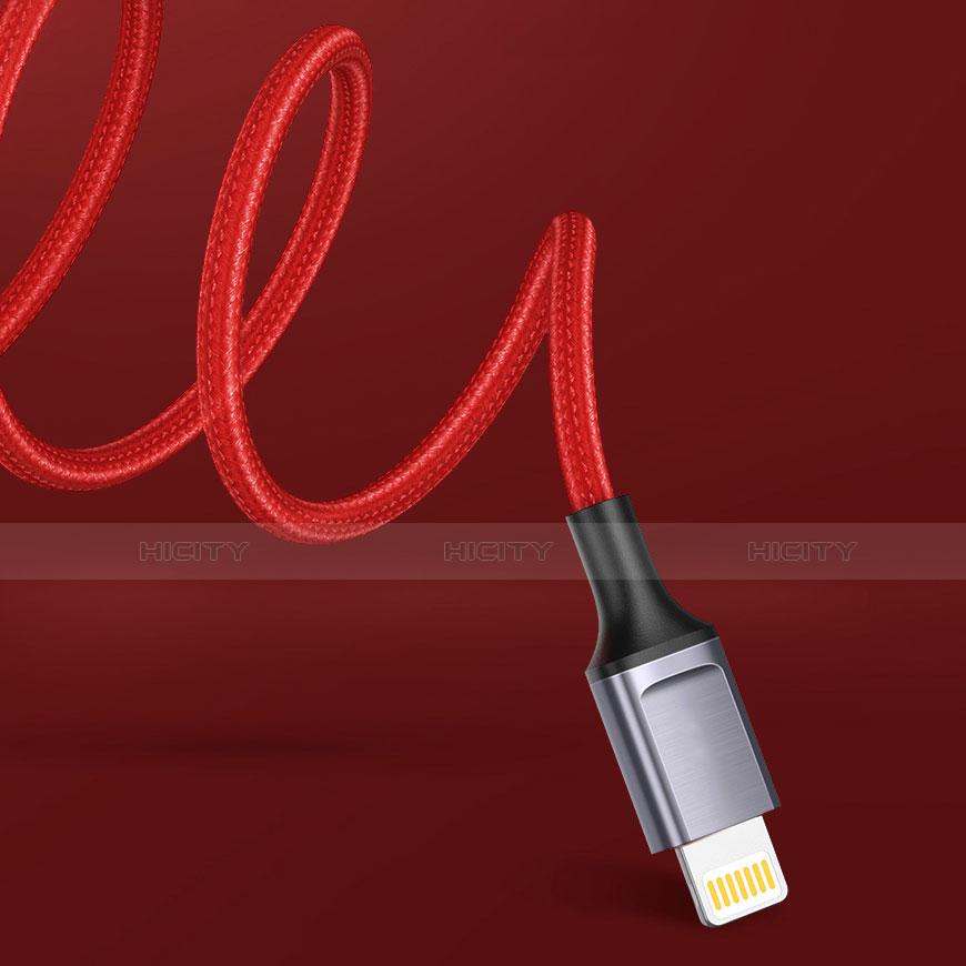 Chargeur Cable Data Synchro Cable C03 pour Apple iPhone 11 Pro Rouge Plus