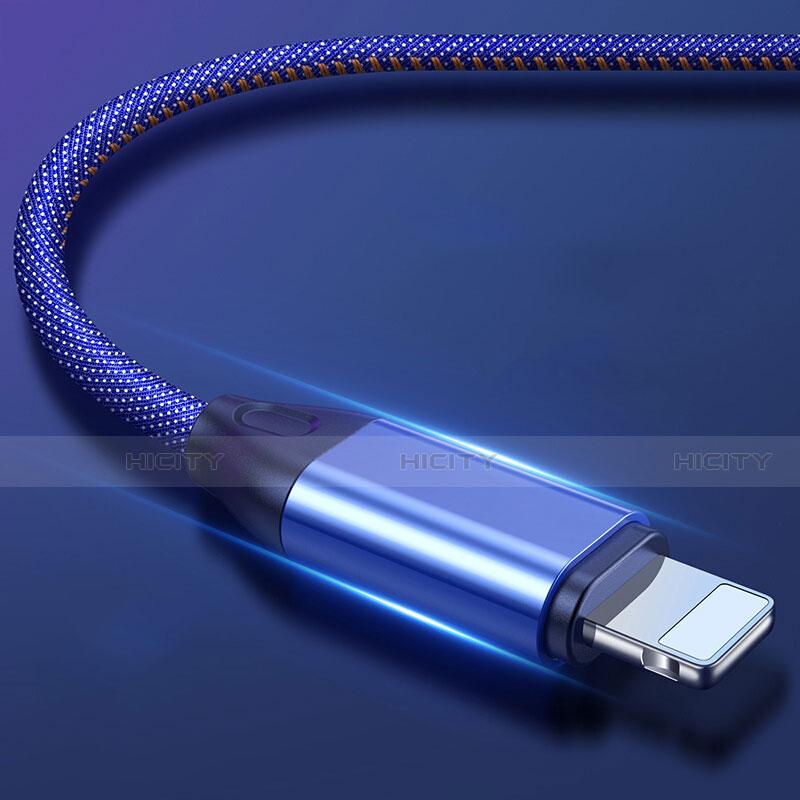 Chargeur Cable Data Synchro Cable C04 pour Apple iPhone 11 Bleu Plus
