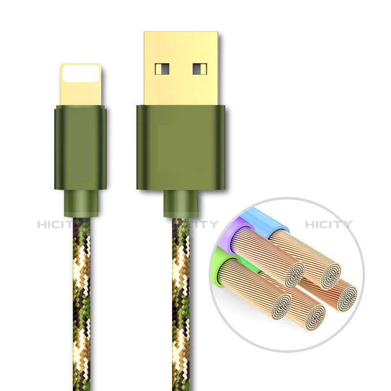 Chargeur Cable Data Synchro Cable L03 pour Apple iPhone 11 Pro Vert Plus