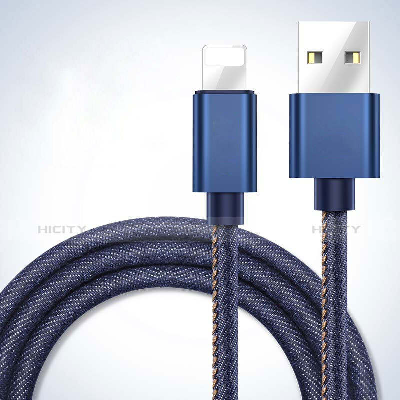 Chargeur Cable Data Synchro Cable L04 pour Apple iPhone 11 Bleu Plus