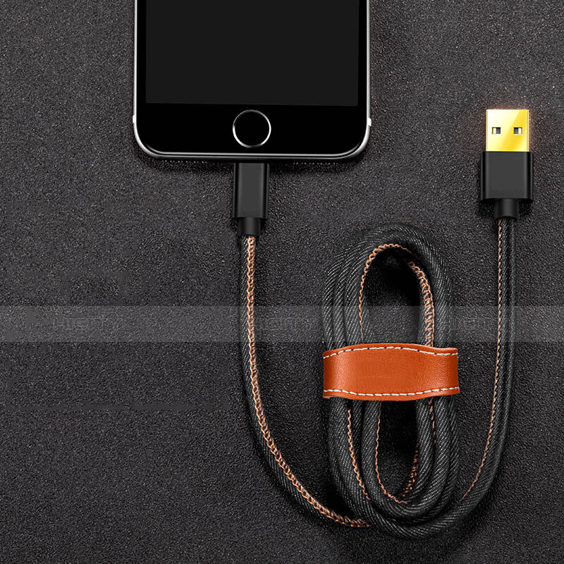 Chargeur Cable Data Synchro Cable L04 pour Apple iPhone 11 Pro Noir Plus