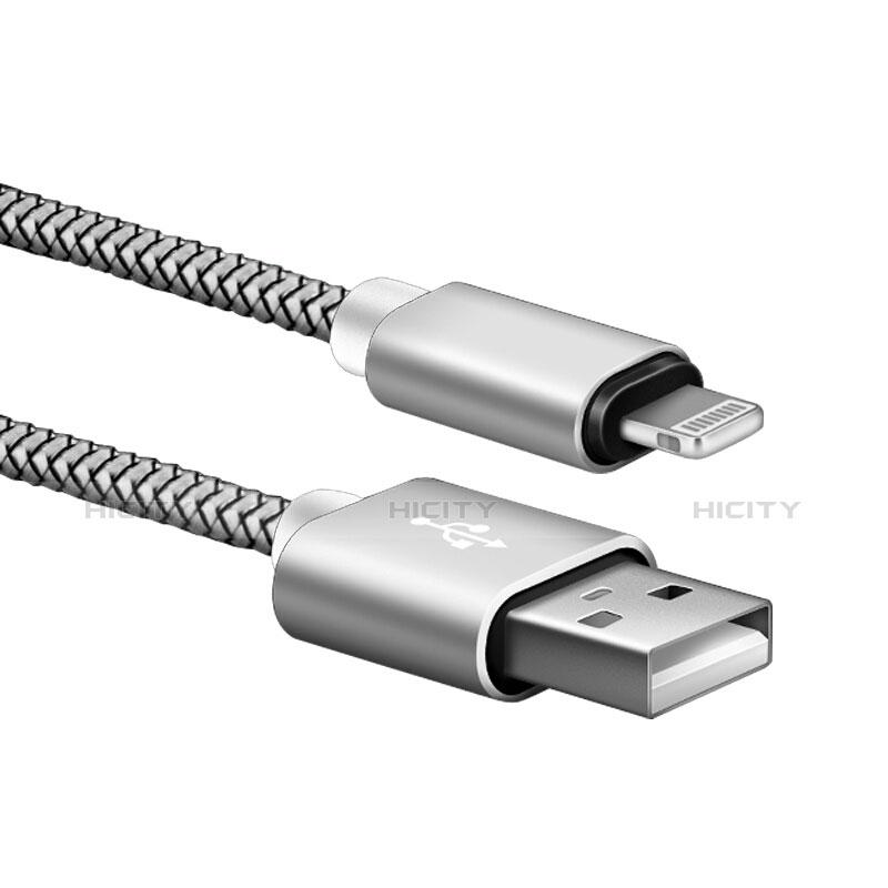Chargeur Cable Data Synchro Cable L07 pour Apple iPhone 11 Argent Plus