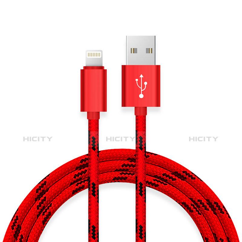 Chargeur Cable Data Synchro Cable L10 pour Apple iPhone 11 Pro Rouge Plus