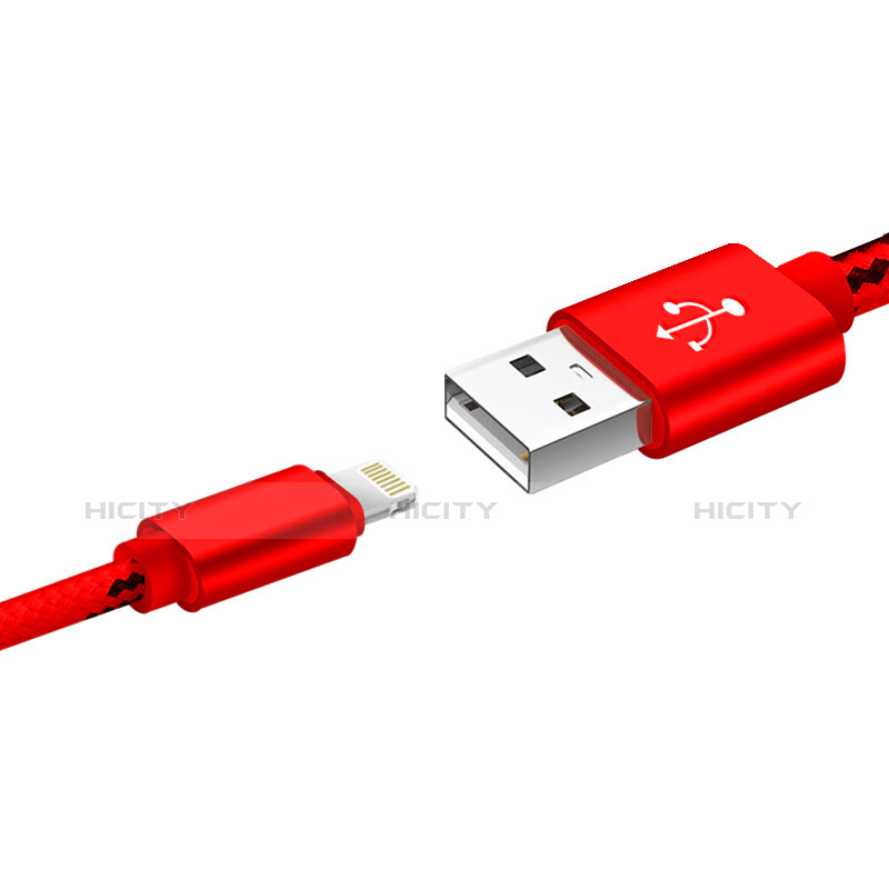 Chargeur Cable Data Synchro Cable L10 pour Apple iPhone 11 Rouge Plus