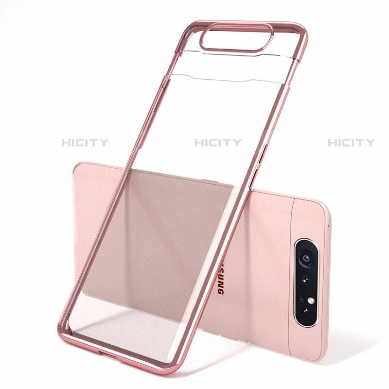 Coque Antichocs Rigide Transparente Crystal Etui Housse H01 pour Samsung Galaxy A80 Plus