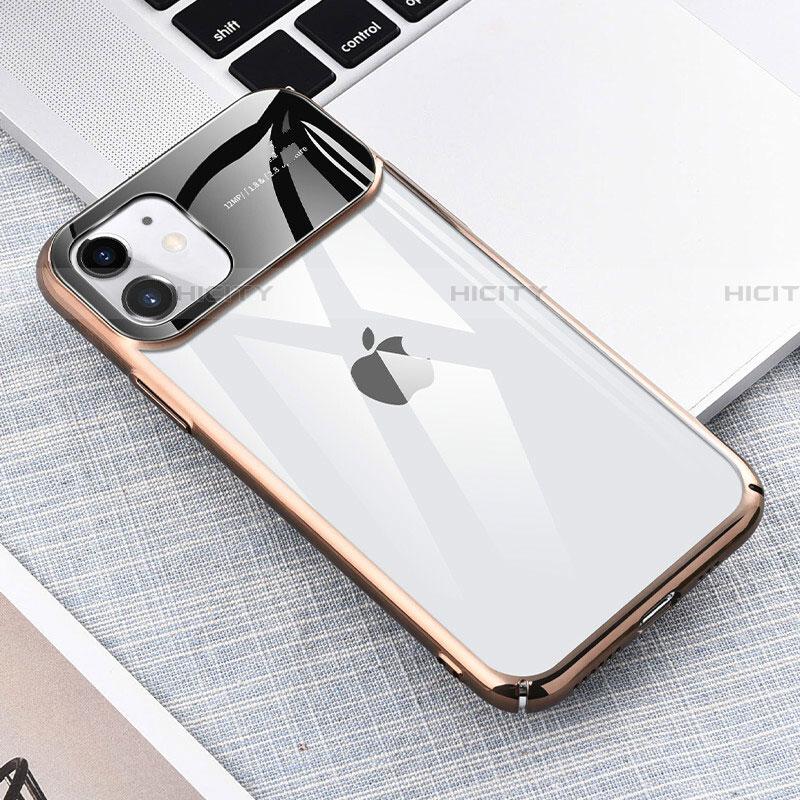 Coque Antichocs Rigide Transparente Crystal Etui Housse S04 pour Apple iPhone 11 Or Plus
