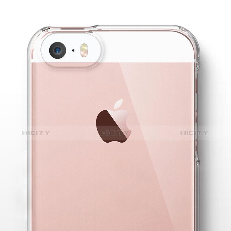 coque antichocs rigide transparente crystal pour apple iphone se clair 6284 plus 5