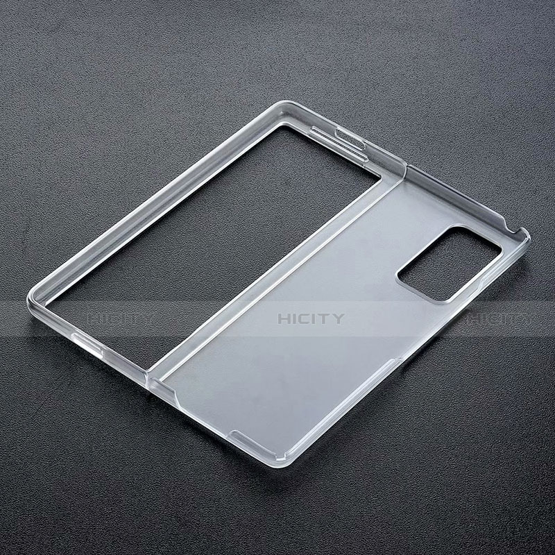 Coque Antichocs Rigide Transparente Crystal pour Samsung Galaxy Z Fold2 5G Noir Plus