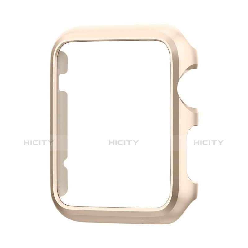 Coque Bumper Luxe Aluminum Metal C01 pour Apple iWatch 3 42mm Or Plus