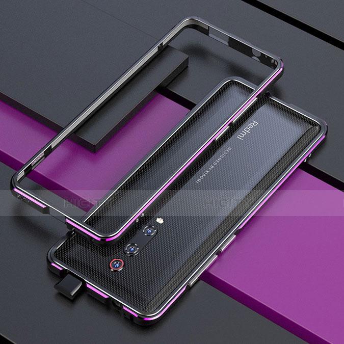 Coque Bumper Luxe Aluminum Metal Etui pour Xiaomi Mi 9T Violet Plus