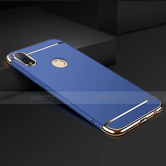 Coque Bumper Luxe Metal et Plastique Etui Housse M01 pour Huawei Honor 8X Bleu Plus