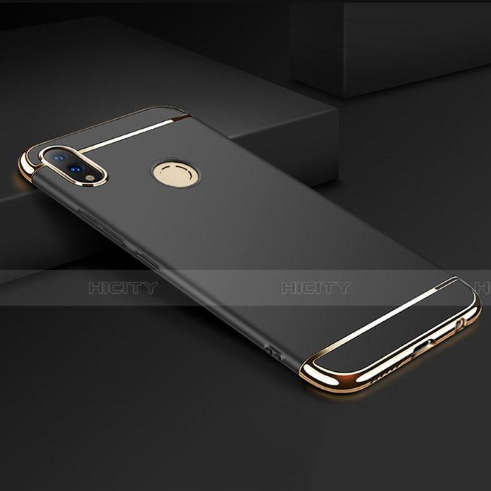 Coque Bumper Luxe Metal et Plastique Etui Housse M01 pour Huawei Honor 8X Noir Plus
