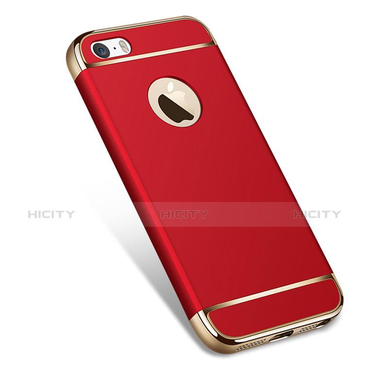 coque bumper luxe metal et plastique pour apple iphone se rouge 12608 plus 1