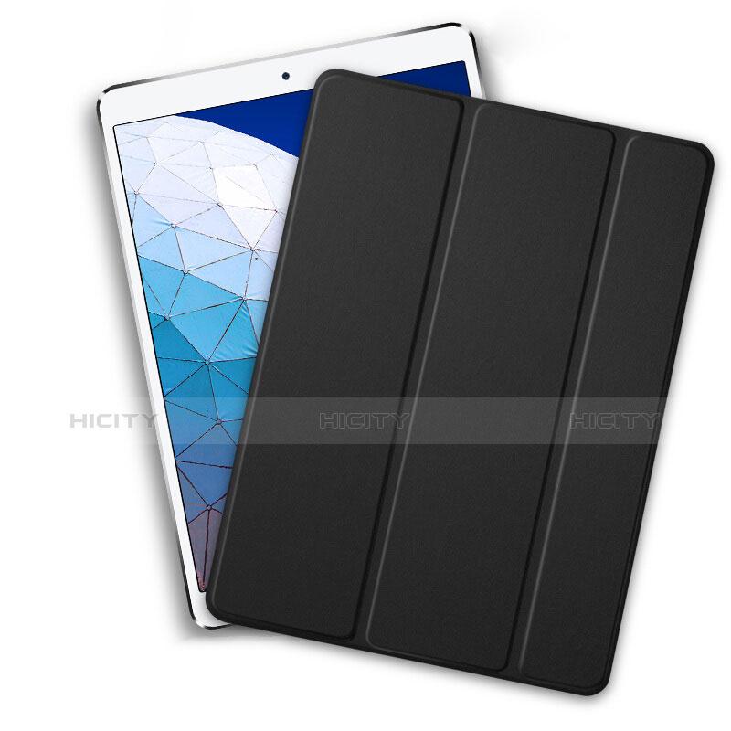 Coque Clapet Portefeuille Livre Cuir L01 pour Apple iPad New Air (2019) 10.5 Noir Plus