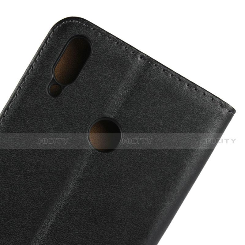 Coque Clapet Portefeuille Livre Cuir pour Huawei Honor 8X Noir Plus